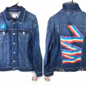 Jean Jacket XL Rainbow Gay Pride Love LGBTQ